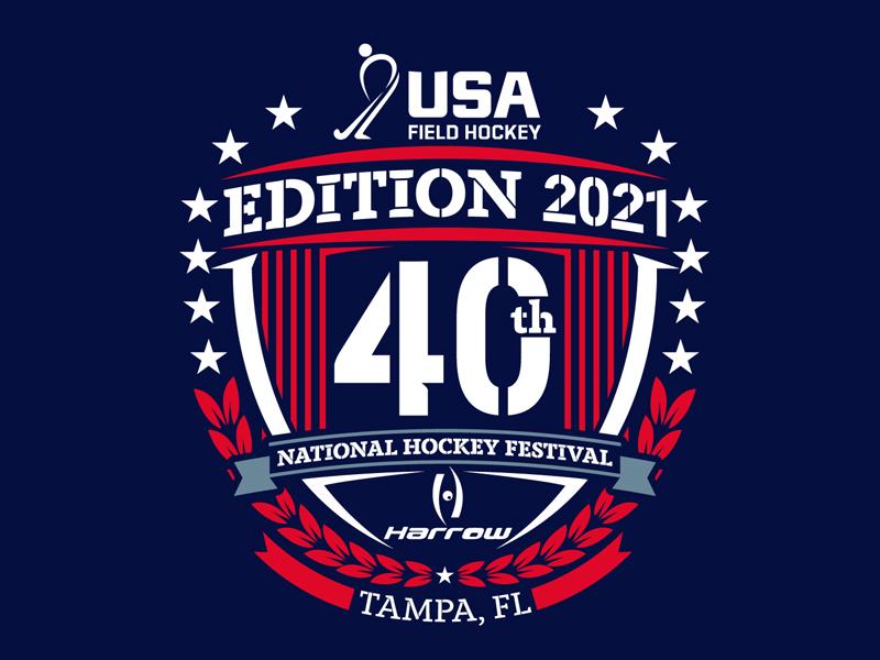 40th Edition 2021 National Hockey Festival logo design by DreamLogoDesign
