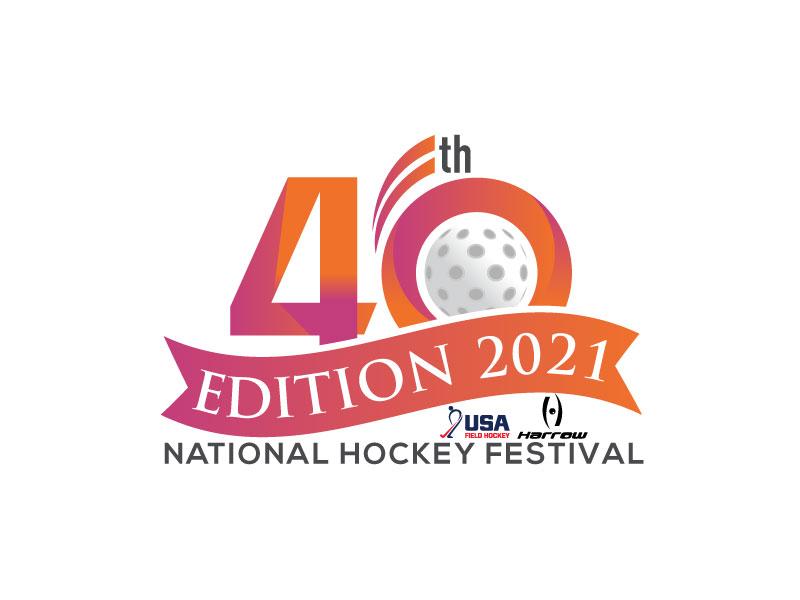 40th Edition 2021 National Hockey Festival logo design by Pintu Das
