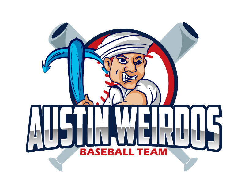 Austin Weirdos Baseball Team logo design by ElonStark