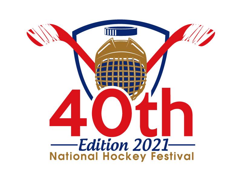 40th Edition 2021 National Hockey Festival logo design by ElonStark