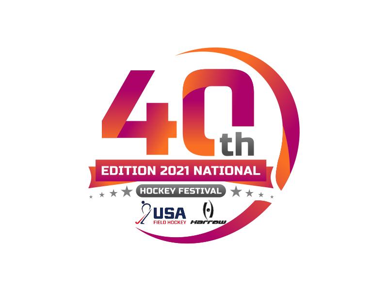 40th Edition 2021 National Hockey Festival logo design by imagine