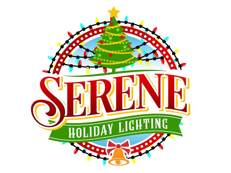 Serene Holiday Lighting logo design by jaize