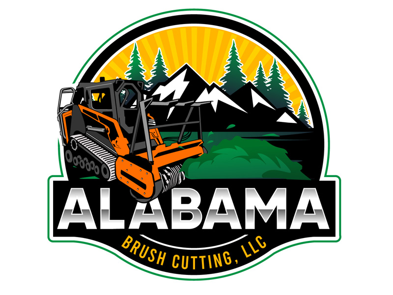 Alabama Brush Cutting, LLC logo design by DreamLogoDesign