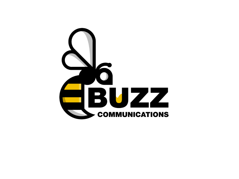 Buzz Communications logo design by Erasedink