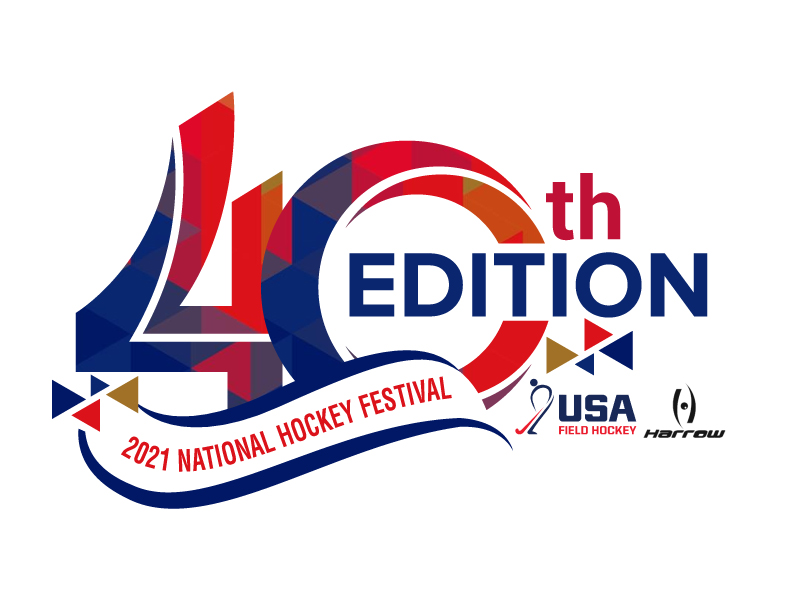 40th Edition 2021 National Hockey Festival logo design by jaize