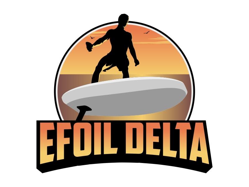 Efoil Delta logo design by Kruger
