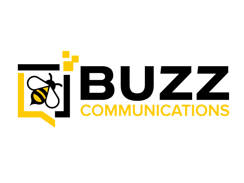 Buzz Communications logo design by jaize