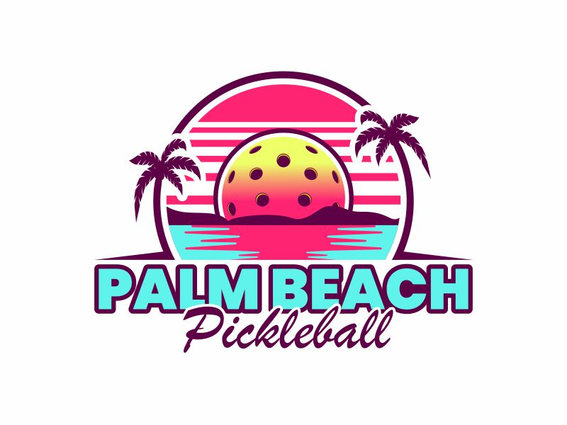 Palm Beach Pickleball logo design by alfais
