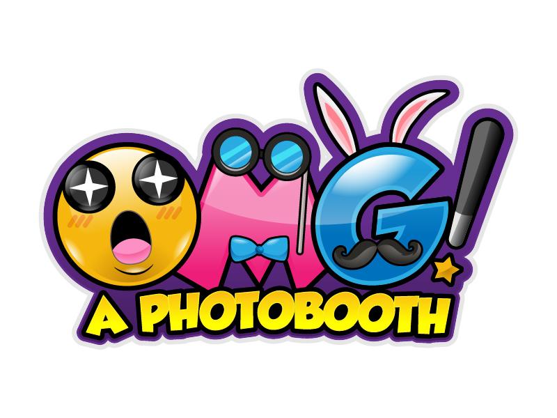 OMG! A Photobooth optional; .com logo design by reight