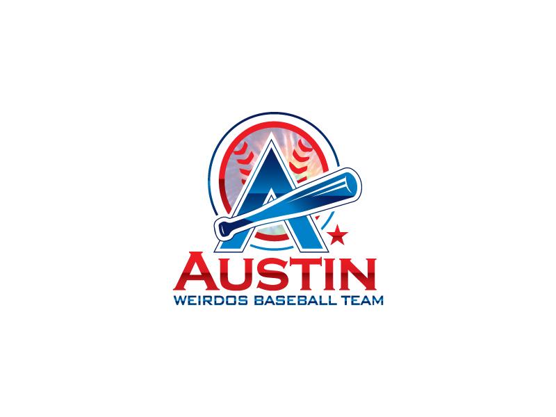 Austin Weirdos Baseball Team logo design by Webphixo