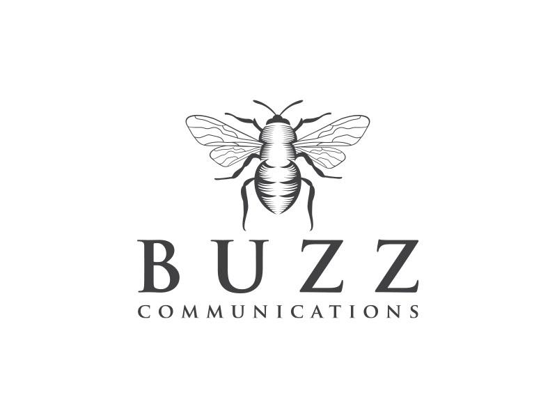 Buzz Communications logo design by bluespix