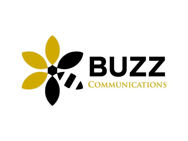 Buzz Communications logo design by Lafayate