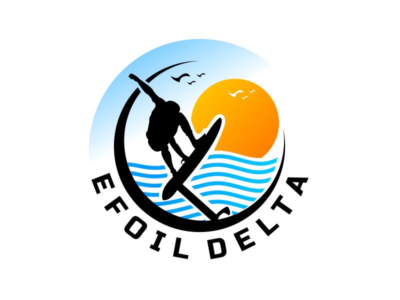Efoil Delta logo design by imagine