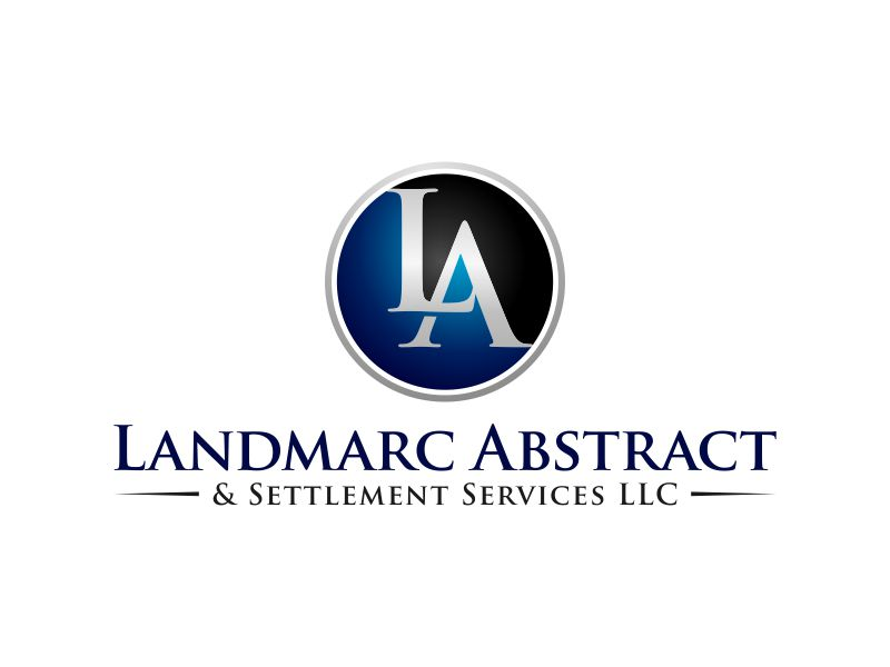 Landmarc Abstract and Settlement Services LLC logo design by Lavina