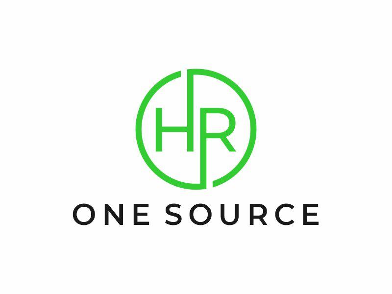 HR One Source logo design by zonpipo1
