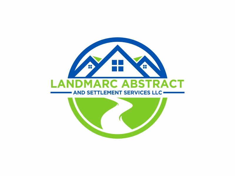 Landmarc Abstract and Settlement Services LLC logo design by banaspati