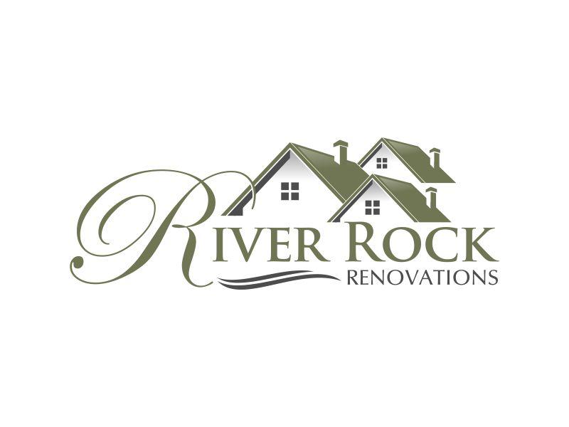 River Rock Renovations logo design by Lavina