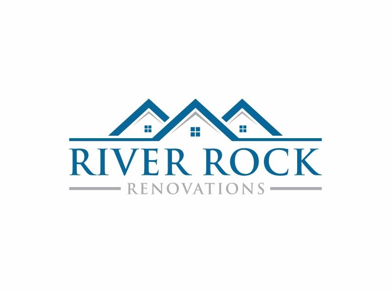 River Rock Renovations logo design by ora_creative