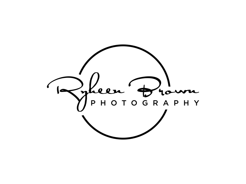 Ryheen Brown Photography logo design by Amne Sea