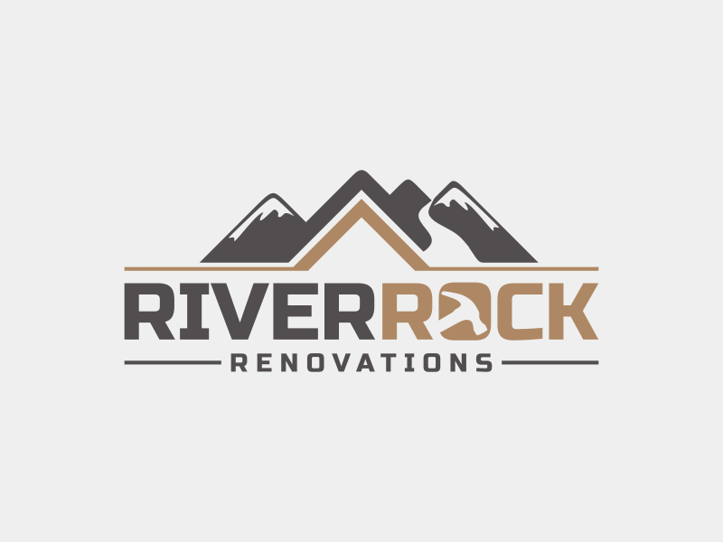 River Rock Renovations logo design by imagine