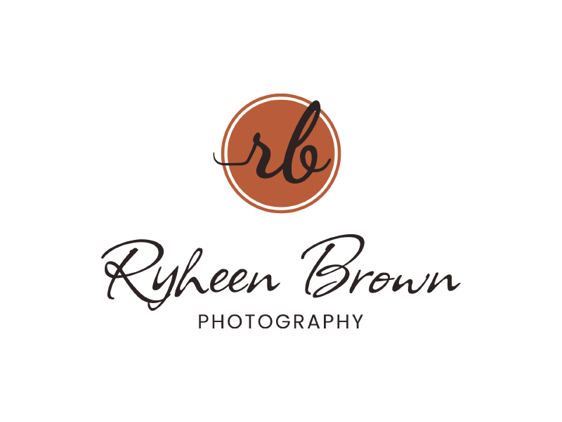 Ryheen Brown Photography logo design by planoLOGO