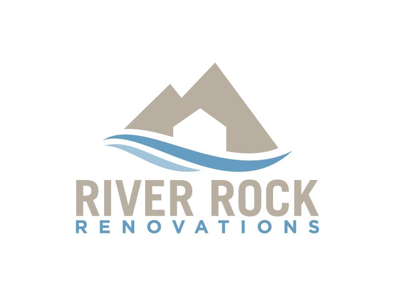 River Rock Renovations logo design by jonggol