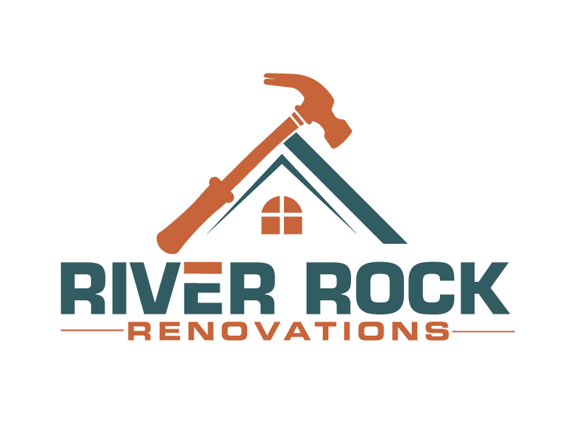 River Rock Renovations logo design by ElonStark