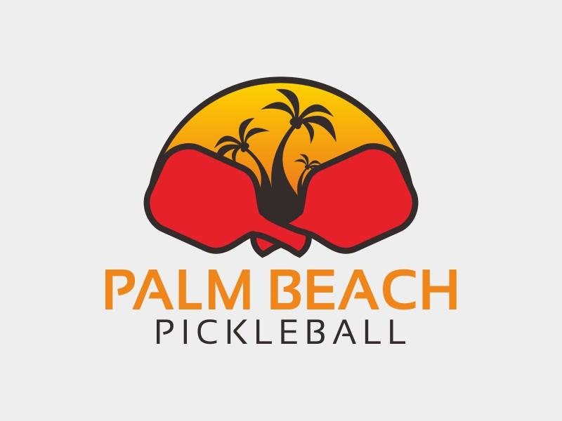 Palm Beach Pickleball logo design by stark