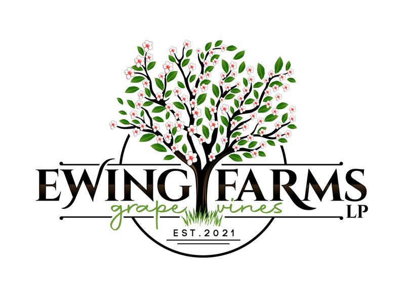 Ewing Farms LP logo design by DreamLogoDesign