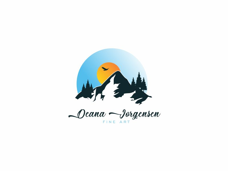 Deana Jorgensen Fine Art logo design by up2date