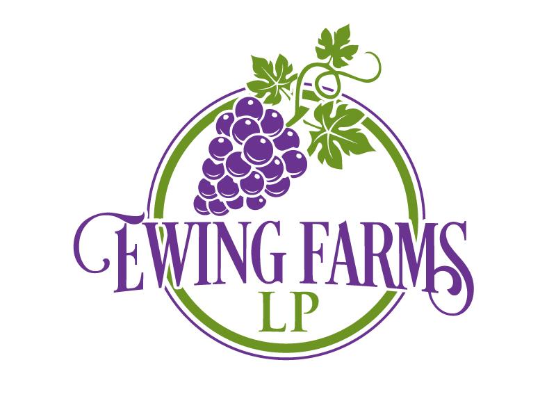 Ewing Farms LP logo design by ElonStark