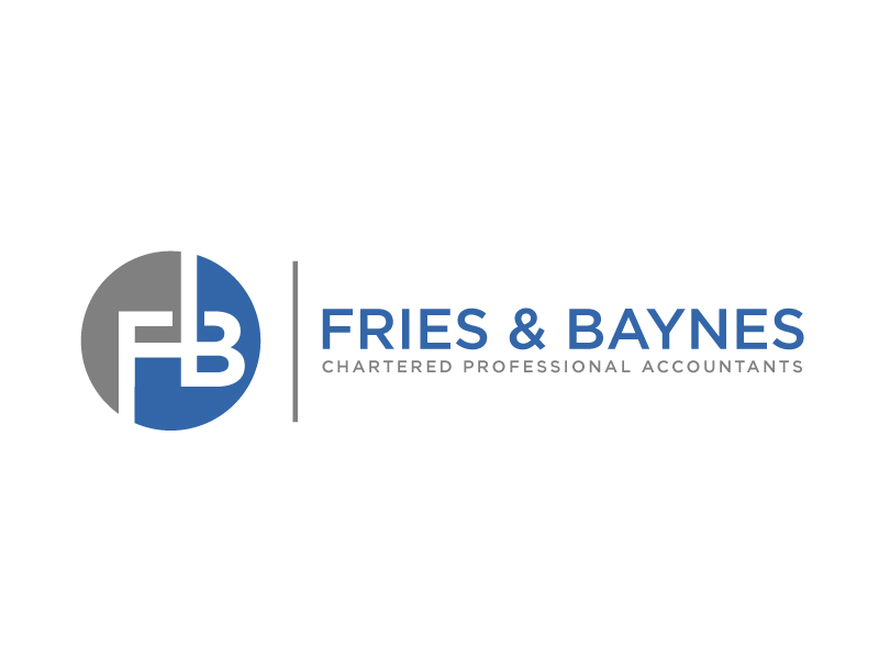 Fries & Baynes Chartered Professional Accountants logo design by maze