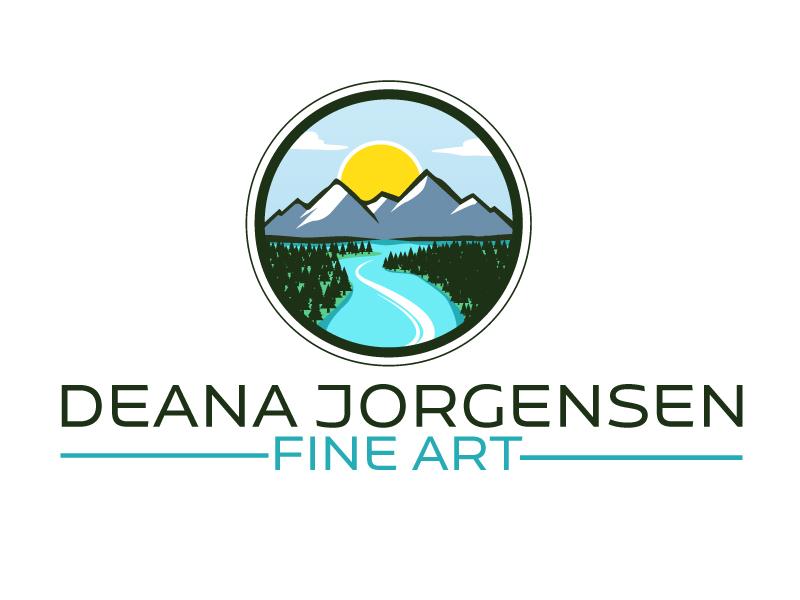 Deana Jorgensen Fine Art logo design by ElonStark