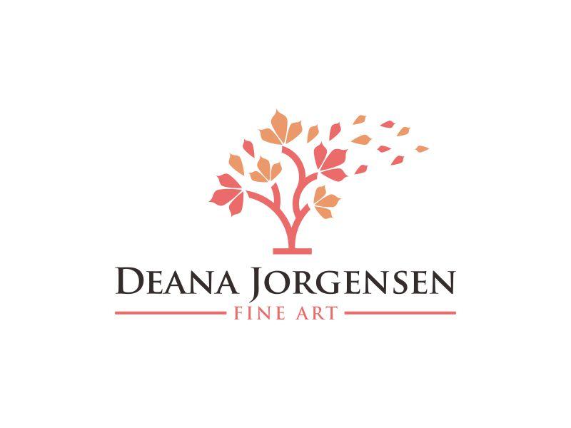 Deana Jorgensen Fine Art logo design by dewipadi