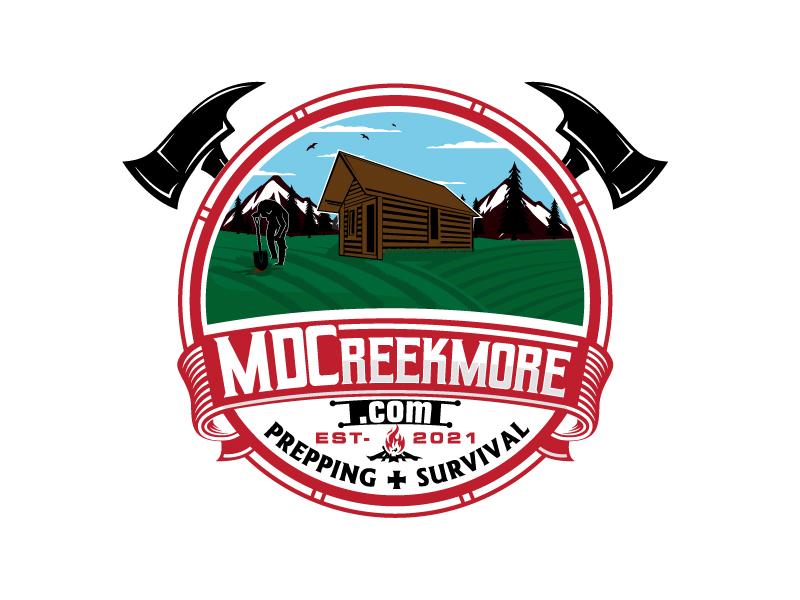 MDCreekmore.com - Prepping + Survival logo design by Suvendu