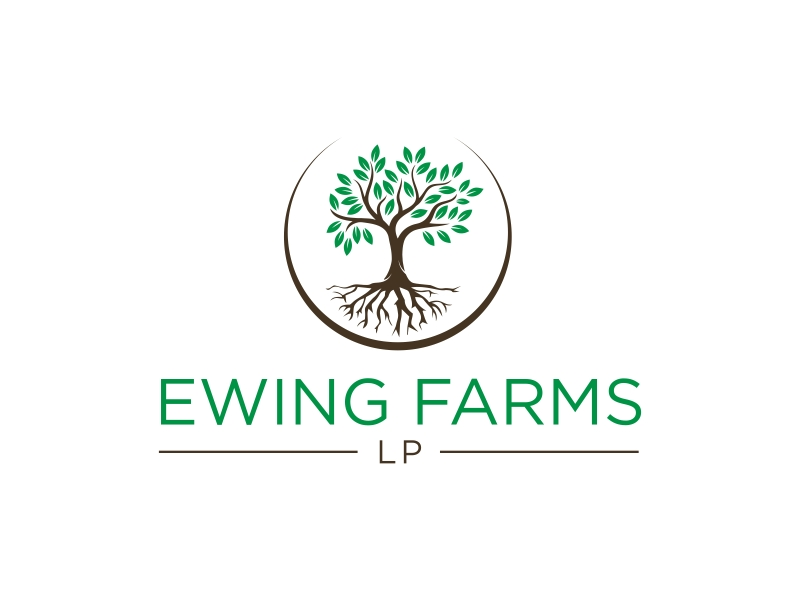 Ewing Farms LP logo design by GassPoll