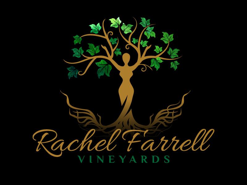 Rachel Farrell Vineyards logo design by jaize