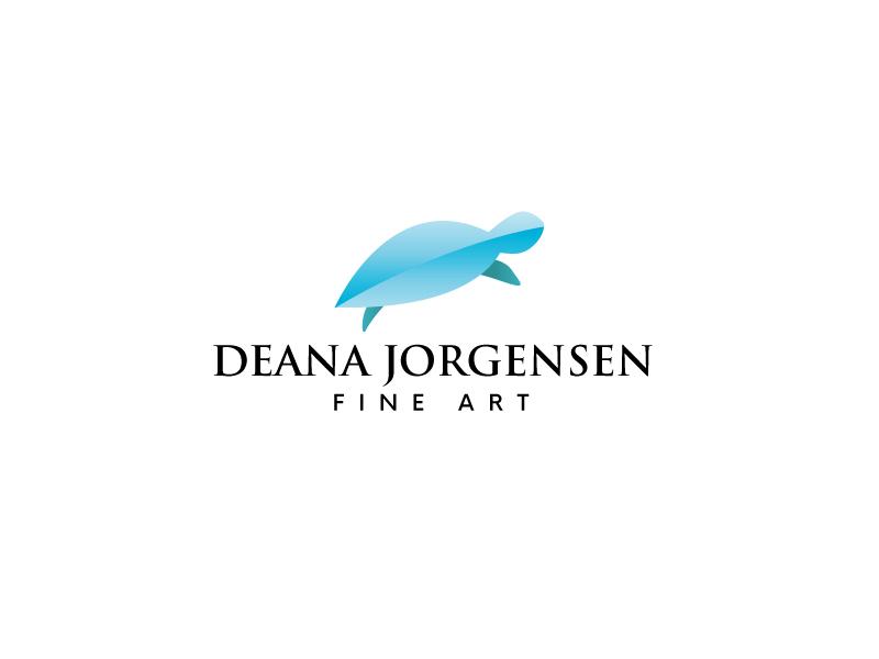 Deana Jorgensen Fine Art logo design by leduy87qn
