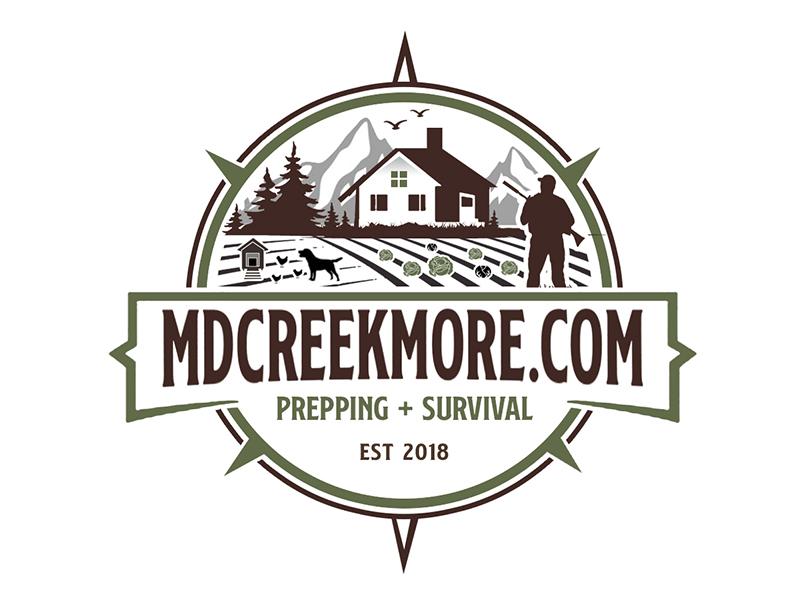 MDCreekmore.com - Prepping + Survival logo design by PrimalGraphics