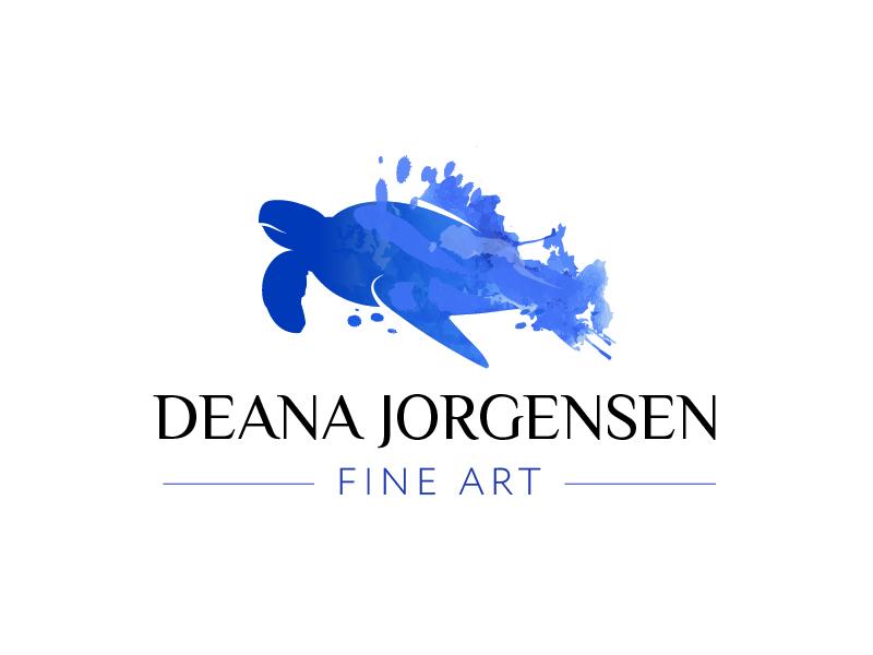 Deana Jorgensen Fine Art logo design by il-in