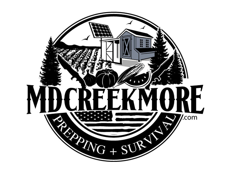 MDCreekmore.com - Prepping + Survival logo design by DreamLogoDesign