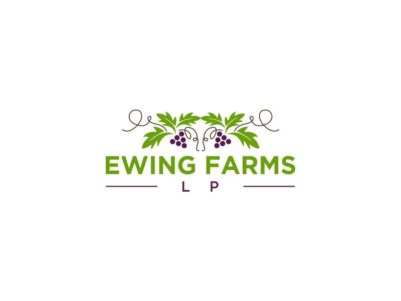 Ewing Farms LP logo design by oke2angconcept