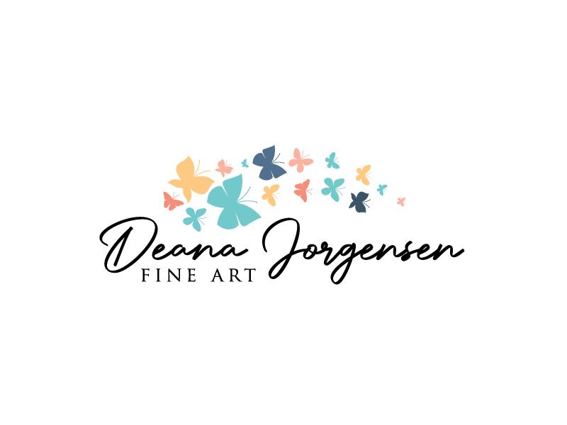 Deana Jorgensen Fine Art logo design by Marianne