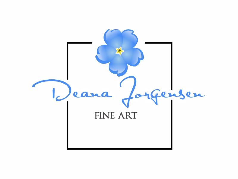 Deana Jorgensen Fine Art logo design by Greenlight
