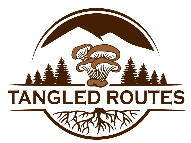Tangled Routes Mushrooms logo design by PMG