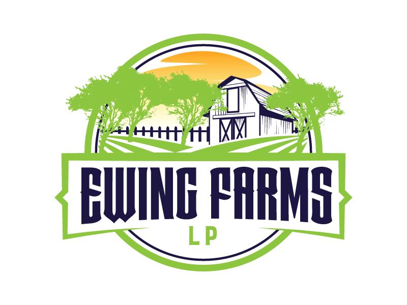 Ewing Farms LP logo design by karjen