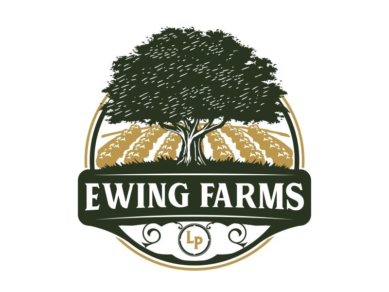 Ewing Farms LP logo design by Mardhi