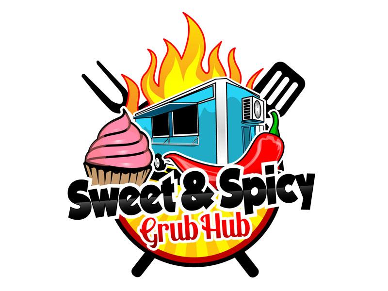 sweet & spicy grub hub Logo Design