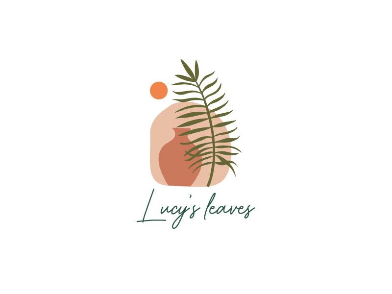 Lucy's Leaves logo design by Erasedink