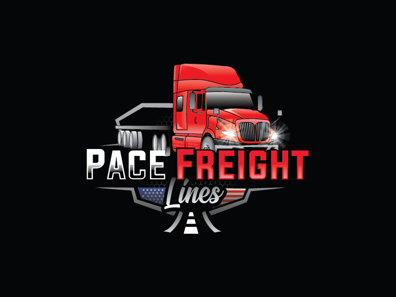 Pace Freight Lines logo design by Shailesh